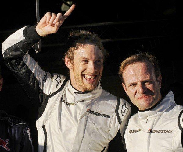 Jenson Button e Rubens Barrichello