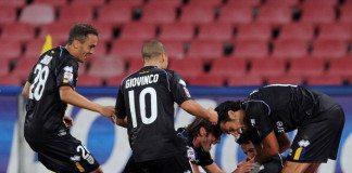 esultanza dopo gol di Gobbi | © Giuseppe Bellini/Getty Images