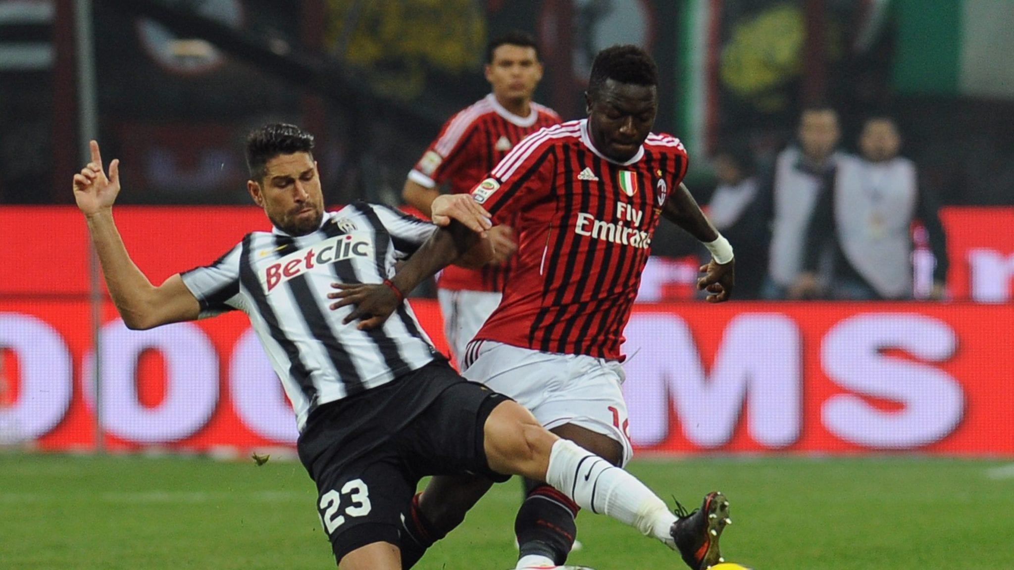 Sullay Muntari e Marco Borriello - Milan Juve | Valerio Pennicino/Getty Images
