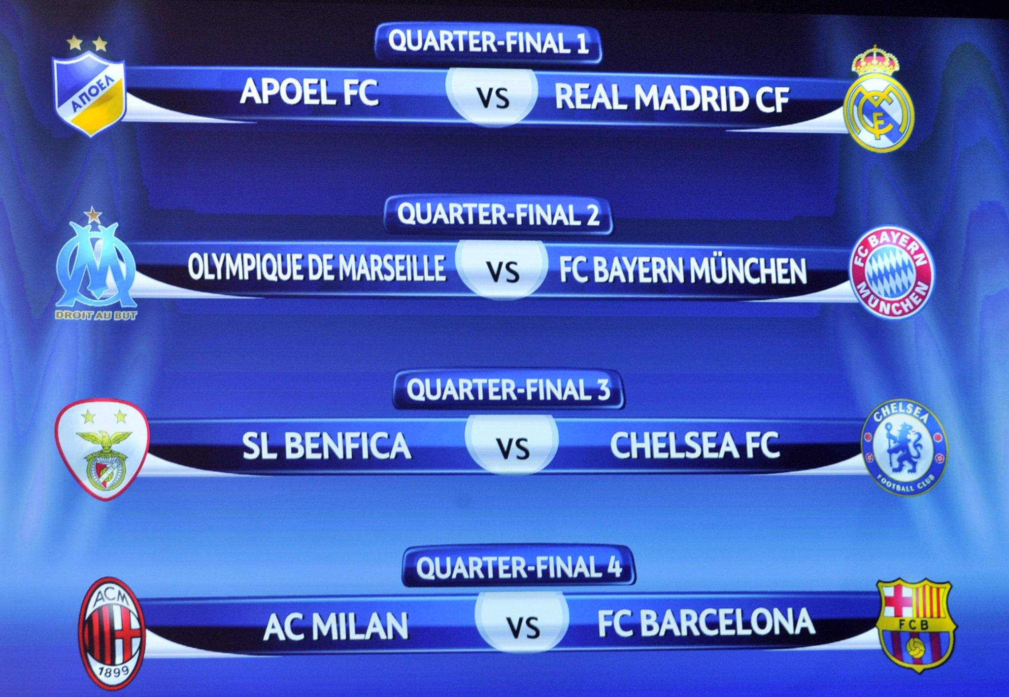 Calendario Champions Quarti.Calendario Quarti Champions League Milan Barcellona Il