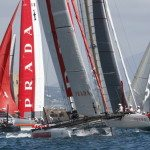 Le imbarcazioni impegnate nell'America's Cup World Series | © CARLO HERMANN/AFP/Getty Images