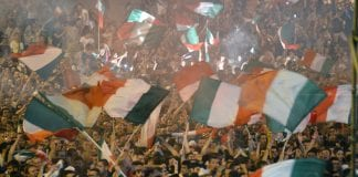 Tifosi in fermento per Italia-Spagna | © VINCENZO PINTO/AFP/GettyImages
