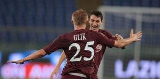 Kamil Glik festeggia il gol