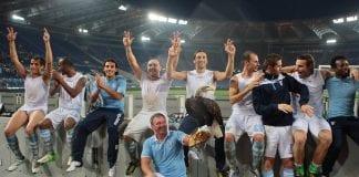 La Lazio festeggia la vittoria