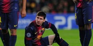 Messi, solo contusione al ginocchio sinistro