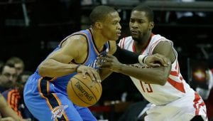 Westbrook trascina i Thunder contro Houston | ©Scott Halleran/Getty Images