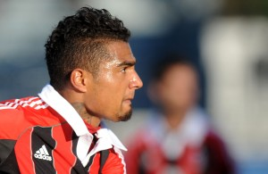 Kevin Prince Boateng durante l'amichevole | ©ALBERTO LINGRIA/AFP/Getty Images
