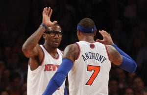 Carmelo Anthony ancora sopra i 20 punti | ©Bruce Bennett/Getty Images