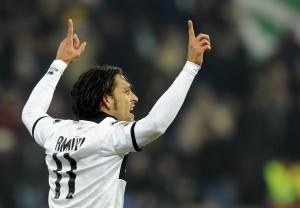 Amauri esulta per il 2-1 del Parma © Claudio Villa/Getty Images