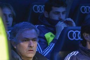 Futuro lontano da Madrid per Mourinho © PEDRO ARMESTRE/AFP/Getty Images