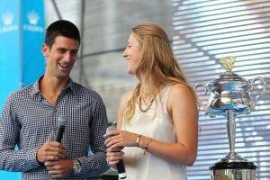 Nole Djokovic e Vika Azarenka ©Graham Denholm/Getty Images