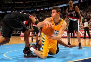 Danilo Gallinari contro Portland | ©Doug Pensinger/Getty Images