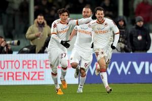 Mattia Destro è il match winner della Roma sul campo della Fiorentina | ©Gabriele Maltinti/Getty Images