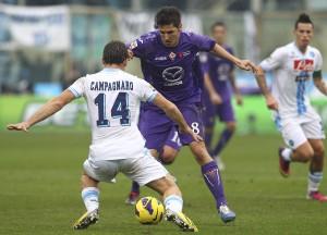 Fiorentina-Napoli, papera De Sanctis, Cavani fa 100 | ©  Marco Luzzani/Getty Images