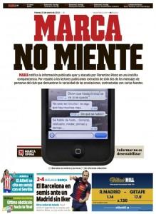 Prima pagina di Marca © foto presa dal web