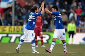 Sansone, protagonista nella sfida tra Sampdoria e Roma © Gabriele Maltinti/Getty Images