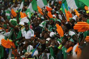 Tifosi nigeriani in festa © Ian Walton/Getty Image
