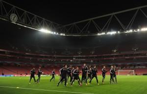 Il Bayern si prepara alla sfida di Champions all'Emirates Stadium © Shaun Botterill/Getty Images