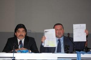 Diego Armando Maradona e Angelo Pisani - Conferenza Stampa - Ph. A. Moraca
