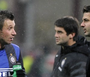 Lite Cassano-Stramaccioni in allenamento | © Claudio Villa/ Getty Images Sport