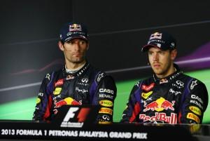 Sebastian Vettel e Mark Webber ©Mark Thompson/Getty Images