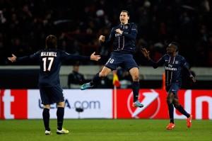 Zlatan Ibrahimovic festeggia il gol - © Dean Mouhtaropoulos/Getty Images