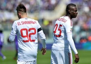 Balotelli ed El Sharaawy, possibili protagonisti della giornata 34 in serie A ©ALBERTO PIZZOLI/AFP/Getty Images