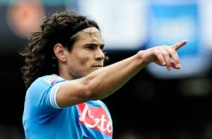 Edinson Cavani al rientro contro l'Inter dopo la squalifica ©ROBERTO SALOMONE/AFP/Getty Images