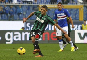 Domenico Berardi prima tripletta in Serie A | ©  Marco Luzzani / Getty Images