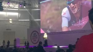 Un momento della presentazione del Giro d'Italia 2015 | Foto Twitter