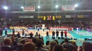 Squadre in campo per il 30° derby emiliano di volley maschile   Foto Twitter