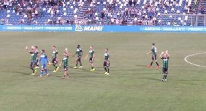 Il Sassuolo esce tra gli applausi del Mapei Stadium | Foto Twitter